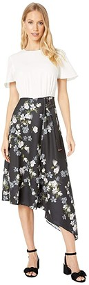 Ted Baker Mirri Opal Mockable Short Sleeve Dress (Ivory) Women's Clothing
