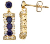 Unbranded 10k Gold Gemstone Dangle Earrings