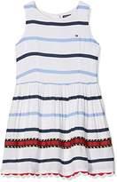 Tommy Hilfiger Girl's Embellished Rayon Stripe Slvls Dress