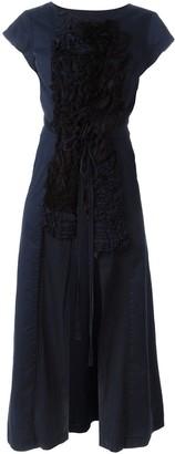 Comme Des Garçons Pre Owned Ruffled Panel Coat