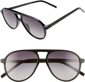 DIFF Jett 55mm Aviator Sunglasses