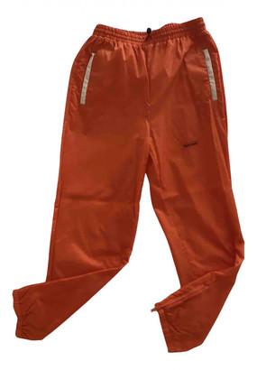 Heron Preston Orange Synthetic Trousers