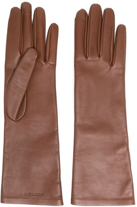 Saint Laurent Debossed Logo Gloves