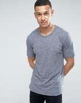Minimum Delta Slub T-Shirt Slim Fit in Navy Melange