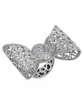 Pasquale Bruni 18k Pave Diamond Bow Ring, Size 6.75