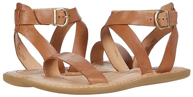 Born Brown Leather Sandals For Women