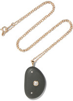 Cvc Stones Paz 18-karat Gold, Stone And Diamond Necklace - one size