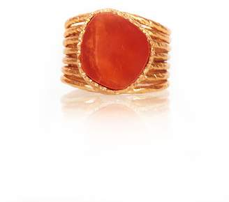 Christina Greene Stackable Ring in Orange Quartz