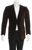 CNC Costume National Notch Lapel Velvet Blazer