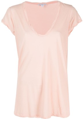 James Perse U-neck cotton T-shirt