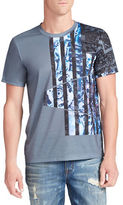 William Rast Abstract Flag Graphic Tee