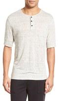 Vince Men's Linen Jersey Henley T-Shirt