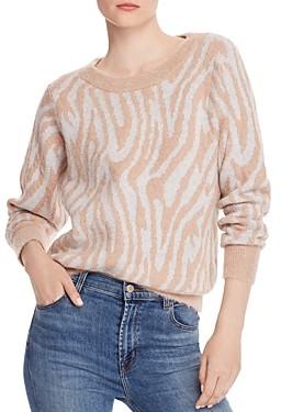 Rebecca Taylor Fuzzy Tiger Striped Sweater