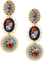 DSQUARED2 floral drop clip-on earrings