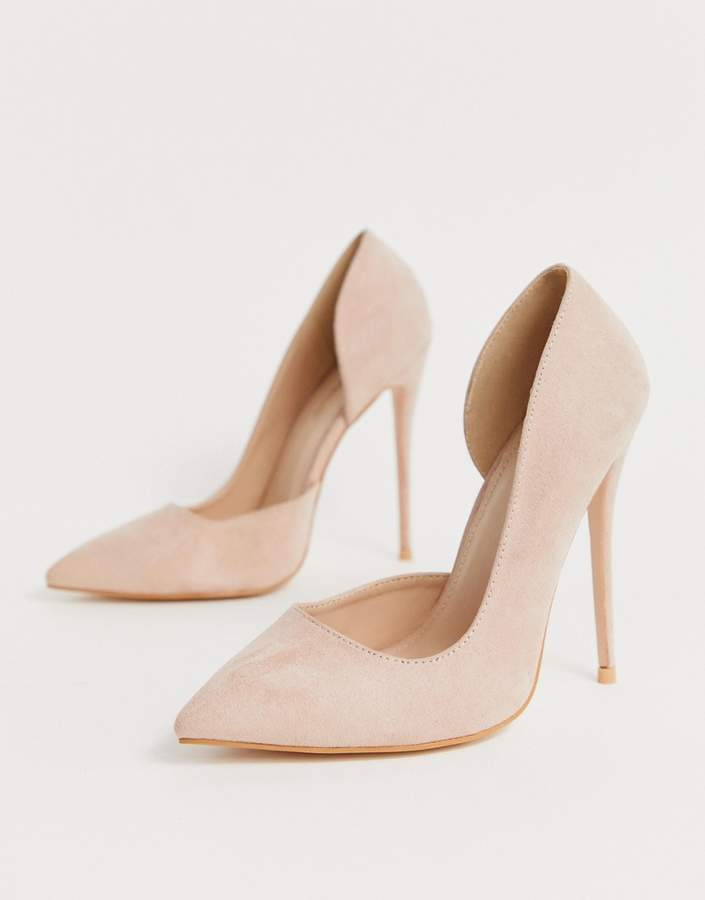 673afdfd6b2 Sweet blush pink court shoes