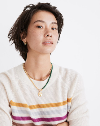 Madewell Malachite Half-and-Half Carabiner Chain Necklace