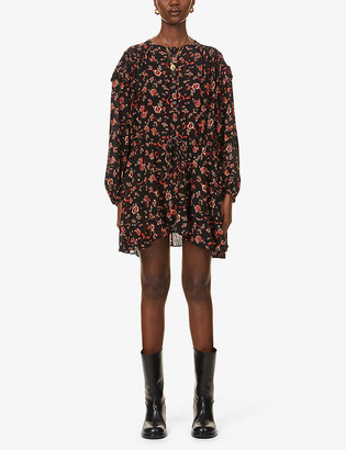 Free People Flower Fields floral-print poplin mini dress