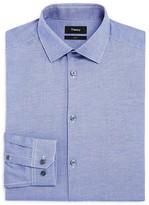 Theory Oxford Textured Stretch Slim Fit Dress Shirt