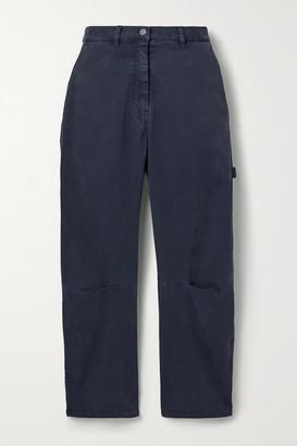 Nili Lotan Carpenter Cotton-blend Twill Tapered Pants