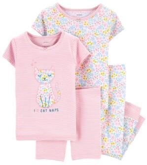 Carter's Toddler Girls 4-Pc. Kitten Cotton Pajamas Set