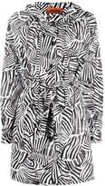 Missoni zebra-print parka coat