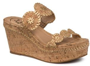 Jack Rogers Leigh Cork & Leather Wedge Sandals