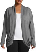 Gaiam Long Sleeve Wrap Shirt Plus