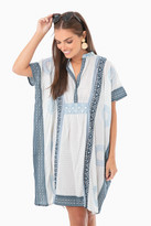 India Collection By Emerson Fry Cerulean Short Emerson Caftan