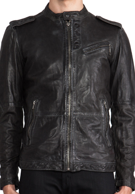 Diesel Leprandis Leather Jacket