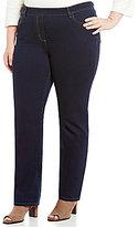 Allison Daley Plus Modern Straight-Leg Pull-On Jeans