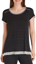 Kensie Dotted Jersey Sleep Top