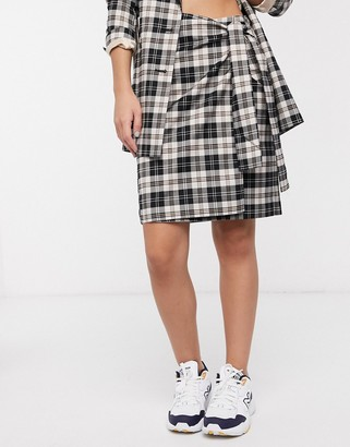 InWear Jannah skirt in check