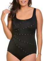 Longitude Colourblock One-Piece Dotted Swimsuit