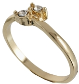 Asos Tiny Stone Pinky Ring - Gold