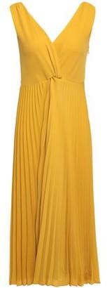 Vince Twist-front Pleated Crepe Midi Dress