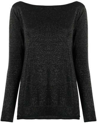 Roberto Collina Glitter Knitted Top