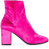 Balenciaga Ville booties - women - Leather/Velvet - 35