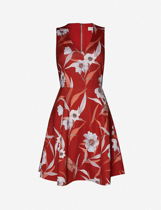 Ted Baker Cabana floral-print stretch-satin mini dress