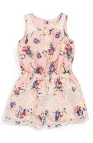 Baby Sara Infant Girl's Embroidered Floral Romper
