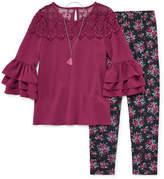 Knitworks Knit Works Ruffle Sleeve Top Legging Set - Girls' 4-16 & Plus