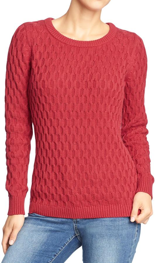 Old Navy Women's Honeycomb-Knit Sweaters