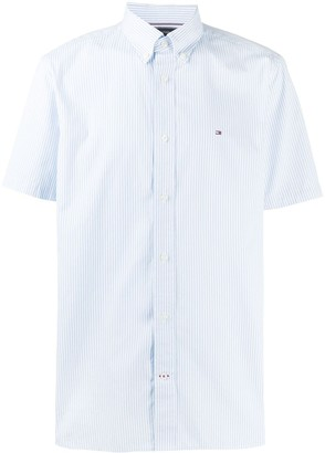 Tommy Hilfiger Embroidered Logo Striped Shirt