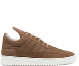 Filling Pieces Padded low-top suede trainers