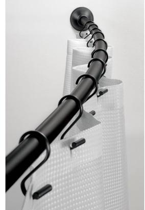 InterDesign Curved Shower Curtain Rod, Matte Black
