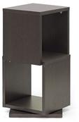 Ogden 2-Level Rotating Modern Bookshelf