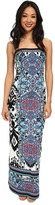 Hale Bob Ikat Haze Tube Top Maxi Dress