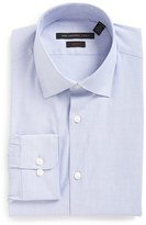 John Varvatos Men's Big & Tall Soho Slim Fit Stretch Stripe Dress Shirt