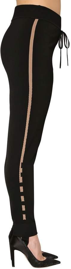 Marina Rinaldi Viscose Nylon Knit Stirrup Pants
