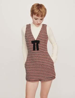 Maje Tweed-style playsuit