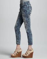 Current/Elliott The Low Rise Burnt Floral Stiletto Jeans